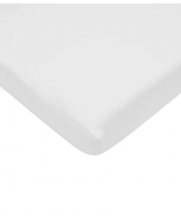 Fitted white sheet