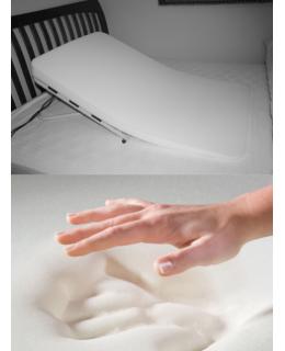 Profiled foam mattress with a memory foam layer